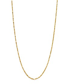 "Giani Bernini 18K Gold over Sterling Silver Necklace, 20"" Small Twist Chain Necklace"