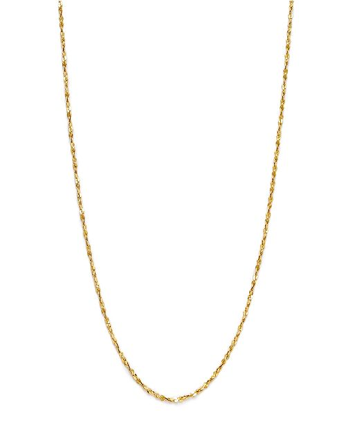 """Giani Bernini 18K Gold over Sterling Silver Necklace, 20"""" Small Twist Chain Necklace"""