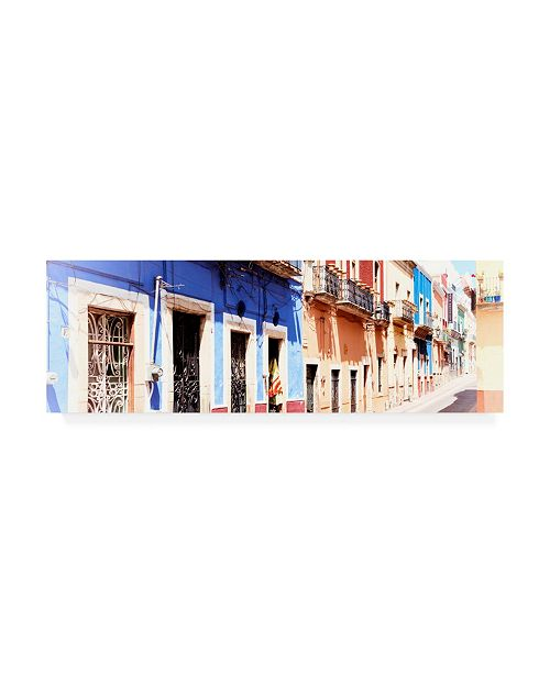 "Trademark Global Philippe Hugonnard Viva Mexico 2 Facades of Colors in Guanajuato II Canvas Art - 36.5"" x 48"""