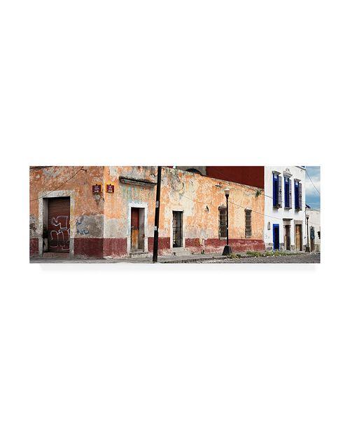 "Trademark Global Philippe Hugonnard Viva Mexico 2 Mexican Street Canvas Art - 27"" x 33.5"""