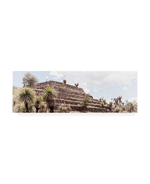 "Trademark Global Philippe Hugonnard Viva Mexico 2 Pyramid of Cantona Archaeological Site VII Canvas Art - 27"" x 33.5"""