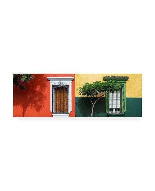 "Trademark Global Philippe Hugonnard Viva Mexico 2 Mexican Colorful Facades Canvas Art - 19.5"" x 26"""