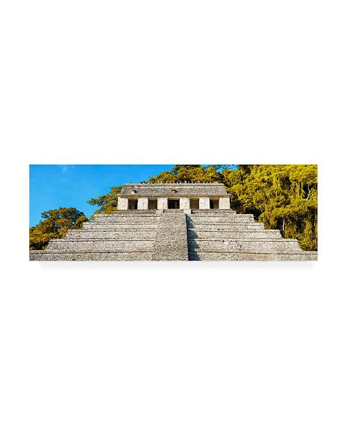 """Trademark Global Philippe Hugonnard Viva Mexico 2 Mayan Temple of Inscriptions with Fall Colors II Canvas Art - 15.5"""" x 21"""""""
