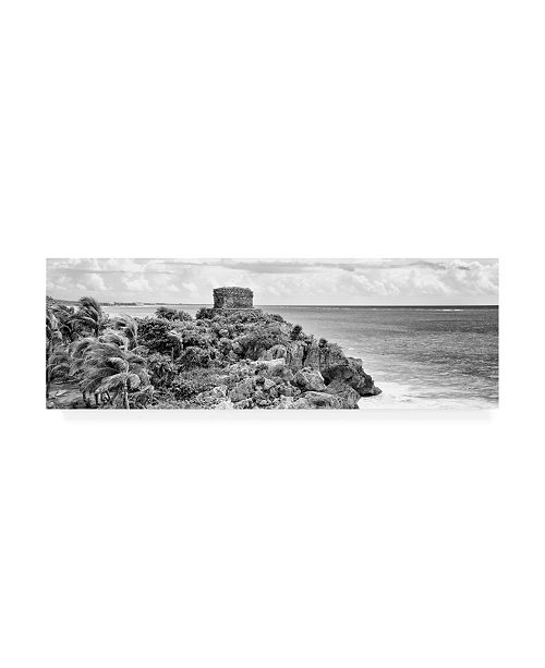 "Trademark Global Philippe Hugonnard Viva Mexico 2 Tulum Ruins B&W Canvas Art - 27"" x 33.5"""