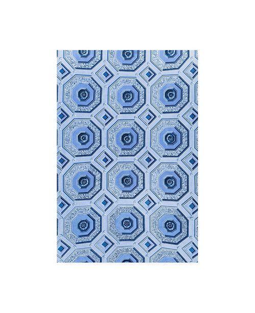 "Trademark Global Philippe Hugonnard Dolce Vita Rome Vatican Blue Mosaic Canvas Art - 36.5"" x 48"""