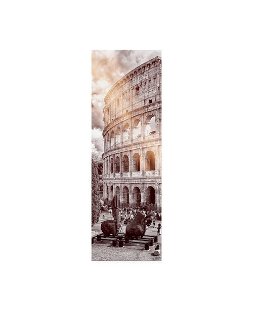 "Trademark Global Philippe Hugonnard Dolce Vita Rome 2 the Colosseum XII Canvas Art - 19.5"" x 26"""