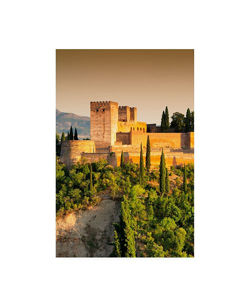 "Trademark Global Philippe Hugonnard Made in Spain the Alhambra at Sunset V Canvas Art - 15.5"" x 21"""