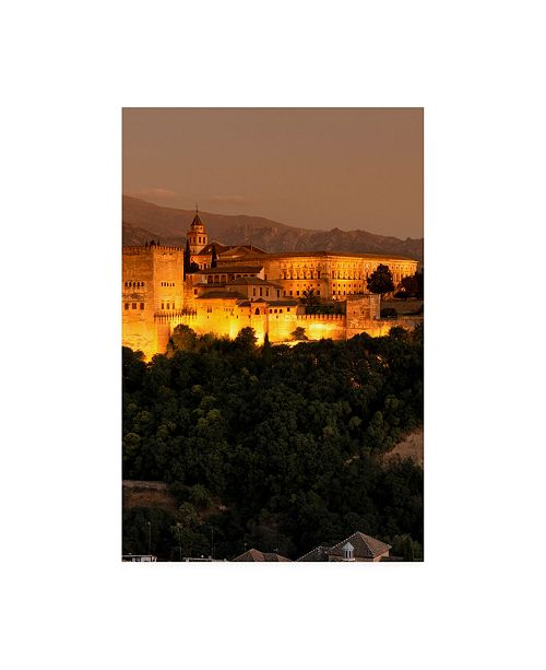 "Trademark Global Philippe Hugonnard Made in Spain the Beautiful Alhambra at Night III Canvas Art - 15.5"" x 21"""