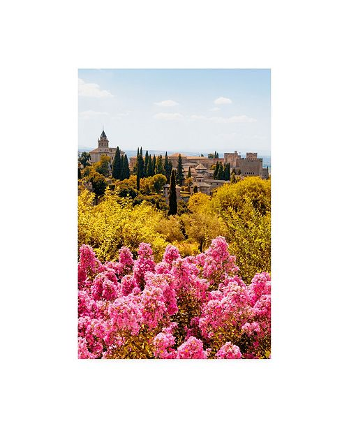 """Trademark Global Philippe Hugonnard Made in Spain Autumn scent at Alhambra II Canvas Art - 15.5"""" x 21"""""""
