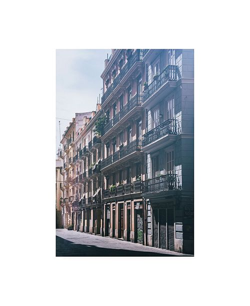 "Trademark Global Philippe Hugonnard Made in Spain Buildings Facades of Valencia II Canvas Art - 15.5"" x 21"""