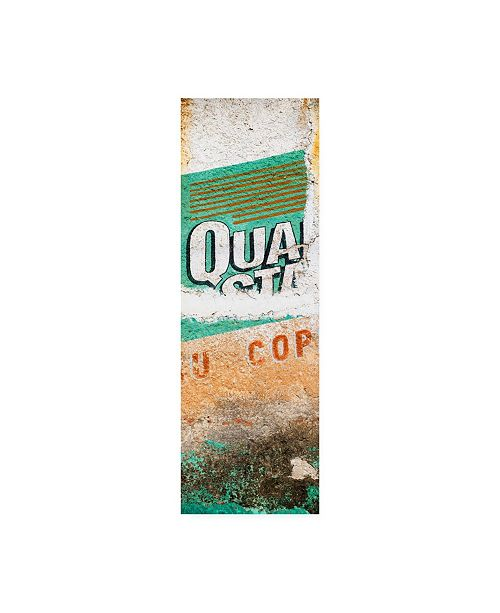 "Trademark Global Philippe Hugonnard Viva Mexico 2 Orange Grunge Wall Canvas Art - 27"" x 33.5"""