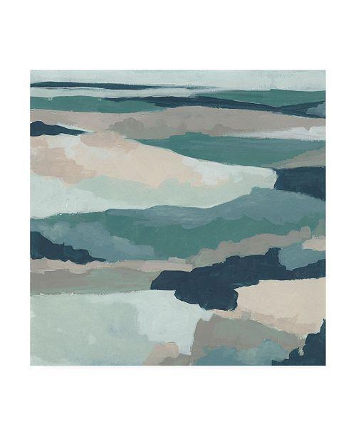 "Trademark Global June Erica Vess Blue Vista I Canvas Art - 36.5"" x 48"""