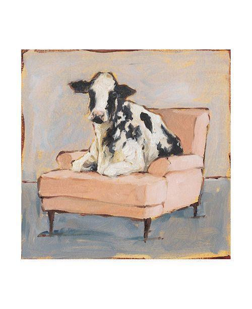 "Trademark Global Ethan Harper Moo-ving in II Canvas Art - 19.5"" x 26"""