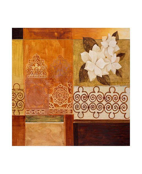 "Trademark Global Pablo Esteban White Floral Collage Canvas Art - 36.5"" x 48"""