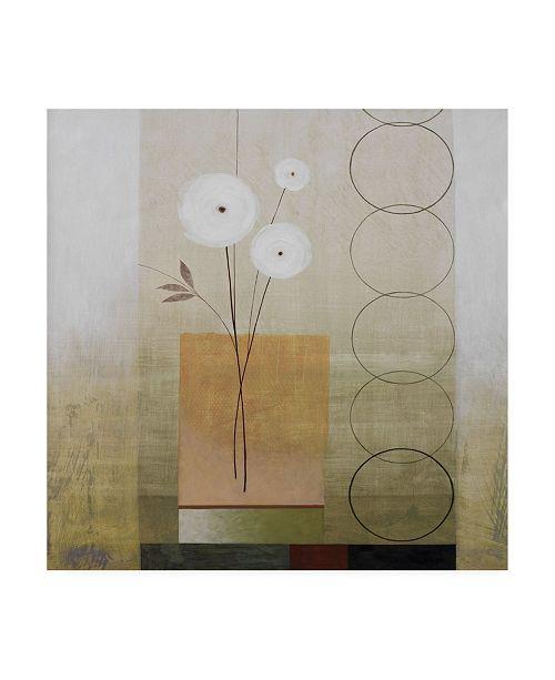 "Trademark Global Pablo Esteban White Flowers in Neutral Canvas Art - 15.5"" x 21"""