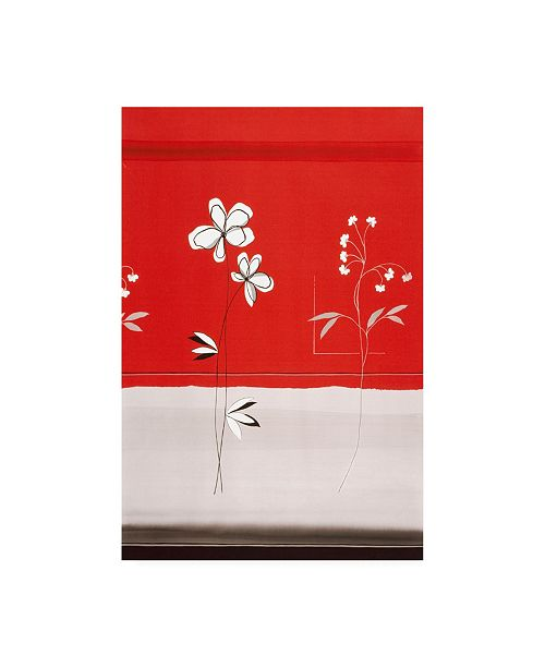 """Trademark Global Pablo Esteban Red and White Under Flowers Canvas Art - 27"""" x 33.5"""""""