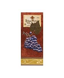 """Pablo Esteban Purple Grapes with Label Canvas Art - 15.5"""" x 21"""""""