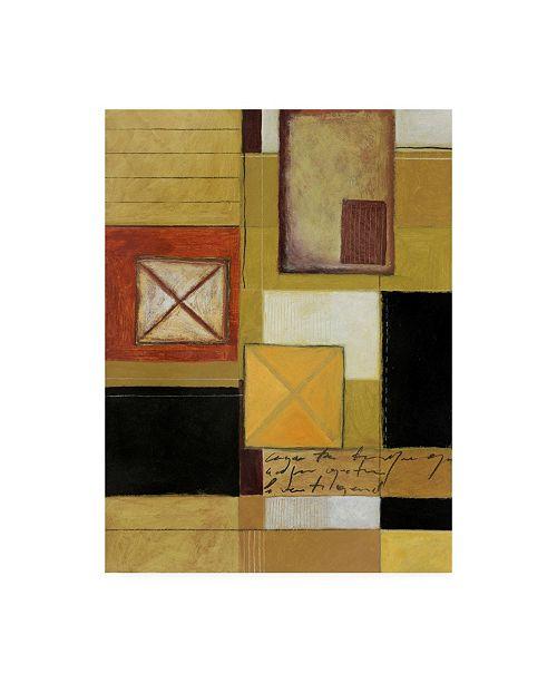 "Trademark Global Pablo Esteban Red Green Black Squares Canvas Art - 27"" x 33.5"""