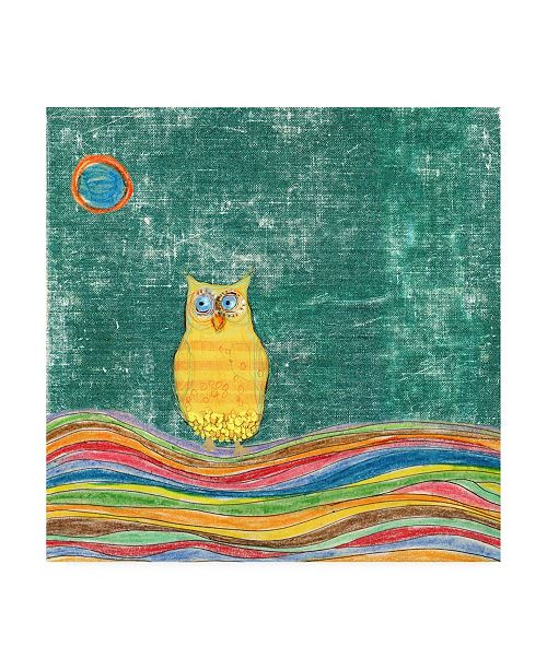 "Trademark Global Ingrid Blixt Feathers, Dots and Stripes V Childrens Art Canvas Art - 15.5"" x 21"""