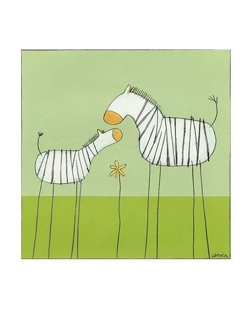"Trademark Global June Erica Vess Stick leg Zebra II Childrens Art Canvas Art - 15.5"" x 21"""