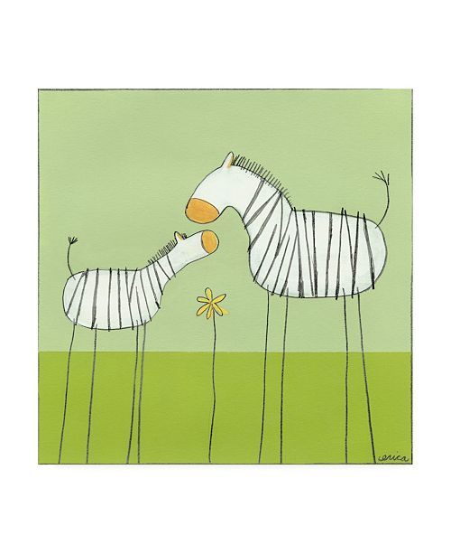 "Trademark Global June Erica Vess Stick leg Zebra II Childrens Art Canvas Art - 36.5"" x 48"""