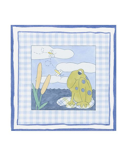 """Trademark Global Megan Meagher Frog with Plaid I Childrens Art Canvas Art - 15.5"""" x 21"""""""