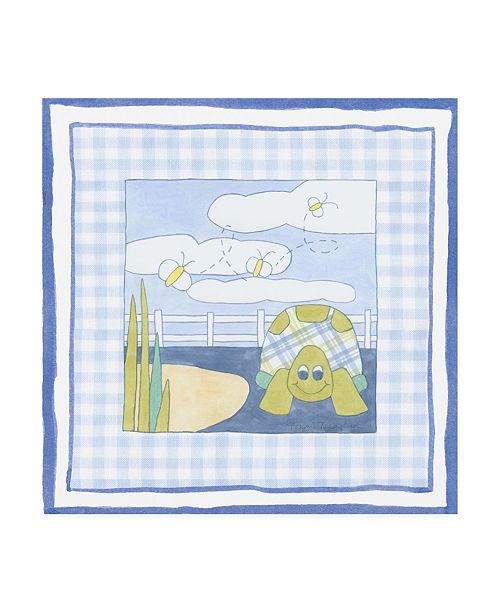 """Trademark Global Megan Meagher Turtle with Plaid II Childrens Art Canvas Art - 36.5"""" x 48"""""""