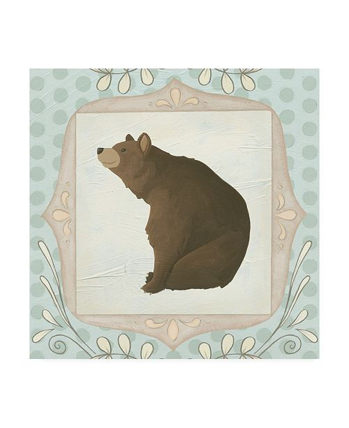 "Trademark Global June Erica Vess Forest Cameo VIII Canvas Art - 15.5"" x 21"""