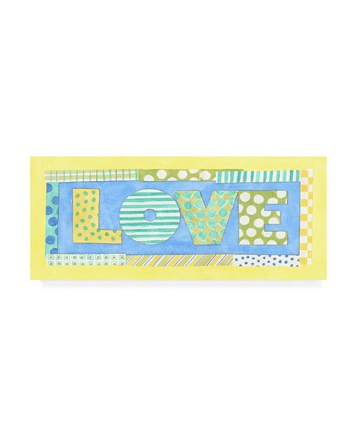 "Trademark Global Megan Meagher Love Phrase Canvas Art - 19.5"" x 26"""