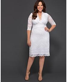 Kiyonna Women's Plus Size Luxe Lace Wedding Dress