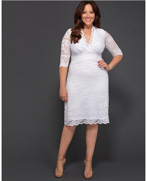 Kiyonna Women S Plus Size Luxe Lace Wedding Dress Reviews