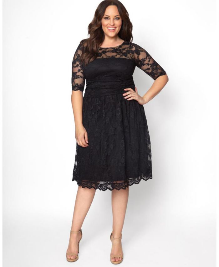 Kiyonna Women's Plus Size Luna Lace Dress & Reviews - Dresses - Women - Macy's