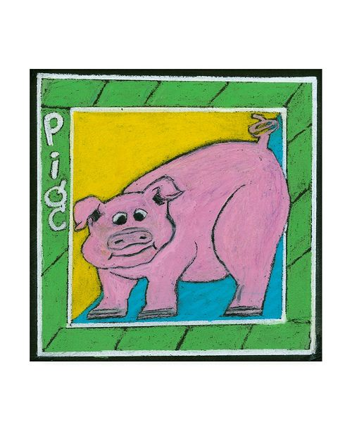 "Trademark Global Lisa Choate Whimsical Pig Canvas Art - 19.5"" x 26"""