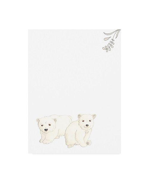 """Trademark Global June Erica Vess Baby Animals II Canvas Art - 19.5"""" x 26"""""""
