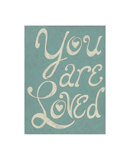 "Trademark Global Chariklia Zarris You are Loved Canvas Art - 36.5"" x 48"""
