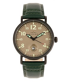 Men's Von Braun Genuine Leather Strap Watch 42mm