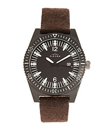 Men's Jeppesen Genuine Leather Strap Watch 42mm