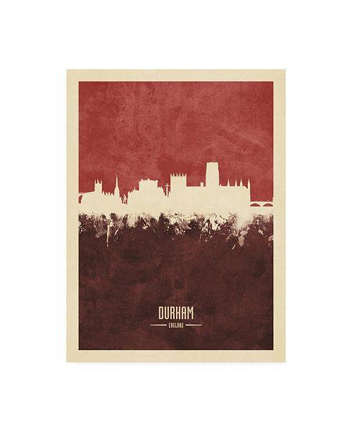 "Trademark Global Michael Tompsett Durham England Skyline Red II Canvas Art - 36.5"" x 48"""