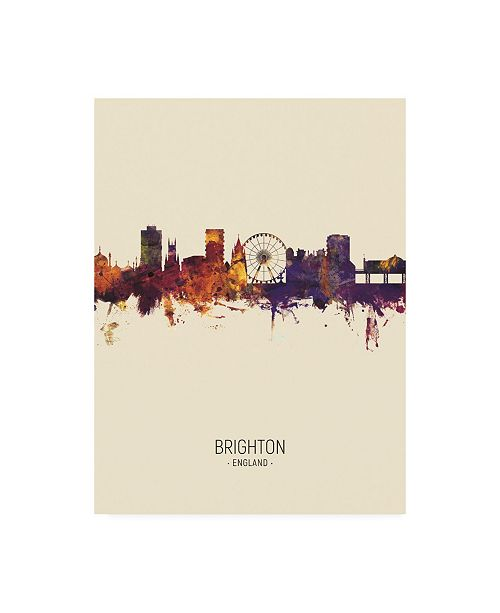 "Trademark Global Michael Tompsett Brighton England Skyline Portrait III Canvas Art - 36.5"" x 48"""