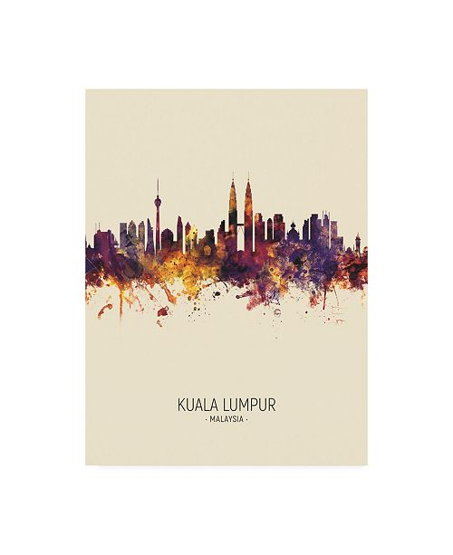 "Trademark Global Michael Tompsett Kuala Lumpur Malaysia Skyline Portrait III Canvas Art - 15.5"" x 21"""