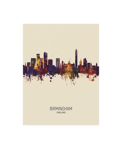 "Trademark Global Michael Tompsett Birmingham England Skyline Portrait III Canvas Art - 15.5"" x 21"""