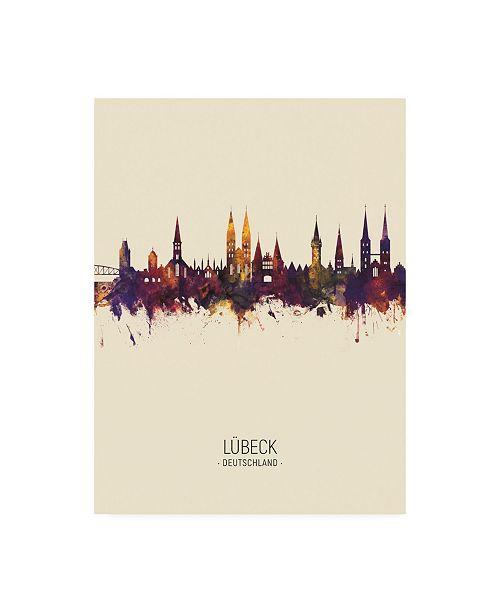 "Trademark Global Michael Tompsett Lubeck Germany Skyline Portrait III Canvas Art - 19.5"" x 26"""
