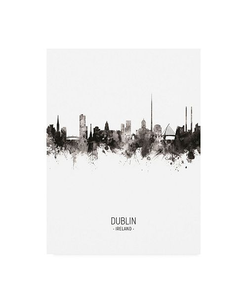 "Trademark Global Michael Tompsett Dublin Ireland Skyline Portrait II Canvas Art - 19.5"" x 26"""