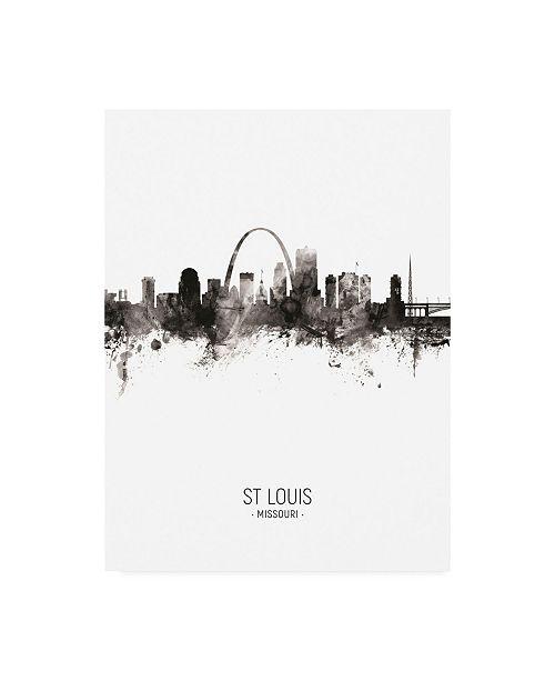"Trademark Global Michael Tompsett St Louis Missouri Skyline Portrait II Canvas Art - 27"" x 33.5"""