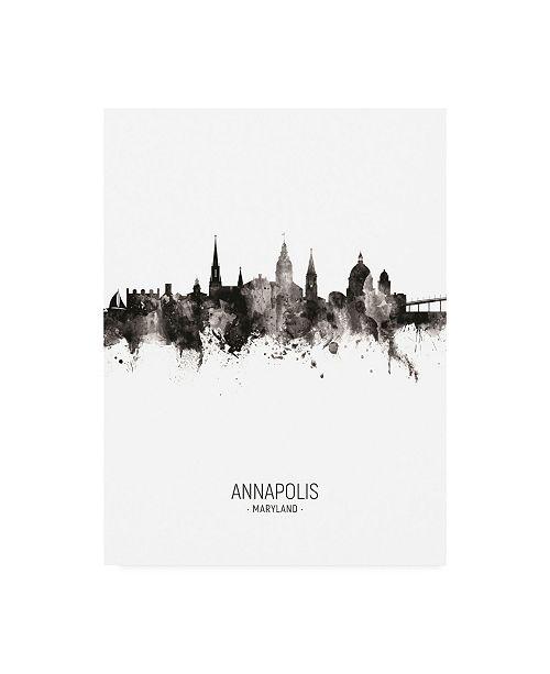 "Trademark Global Michael Tompsett Annapolis Maryland Skyline Portrait II Canvas Art - 15.5"" x 21"""