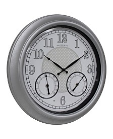 FirsTime & Co.® Radiant Led Outdoor Clock