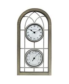 Farmhouse Arch Outdoor Clock