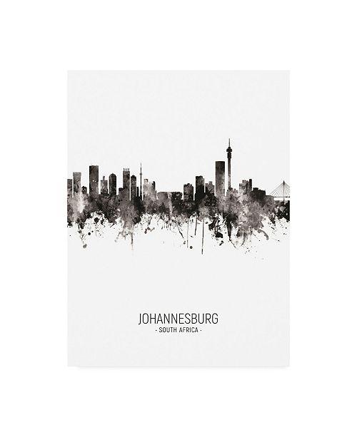 "Trademark Global Michael Tompsett Johannesburg South Africa Skyline Portrait II Canvas Art - 15.5"" x 21"""