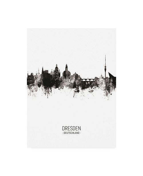 "Trademark Global Michael Tompsett Dresden Germany Skyline Portrait II Canvas Art - 19.5"" x 26"""