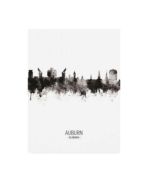 "Trademark Global Michael Tompsett Auburn Alabama Skyline Portrait II Canvas Art - 36.5"" x 48"""